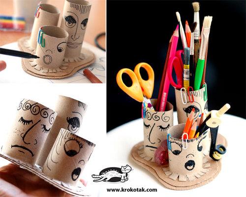 Des pots à crayons