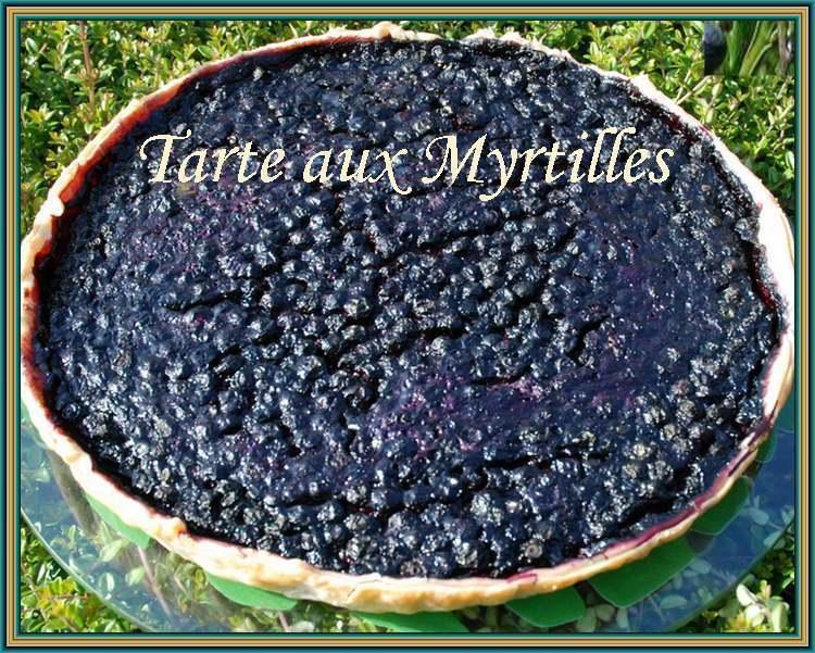 Recette de cuisine : Tarte aux myrtilles