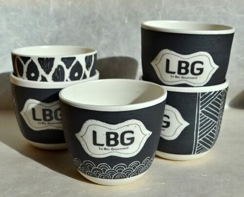 Le Bec Gourmand, ensemble mugs et tasses