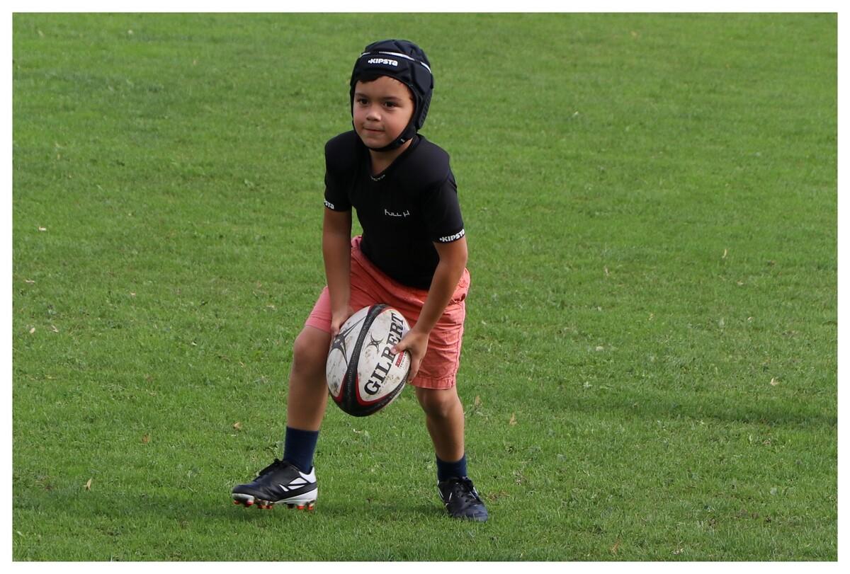 Nolann à l'entrainement de rugby !
