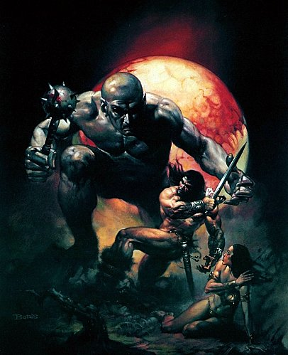 Boris Vallejo - Troll battle