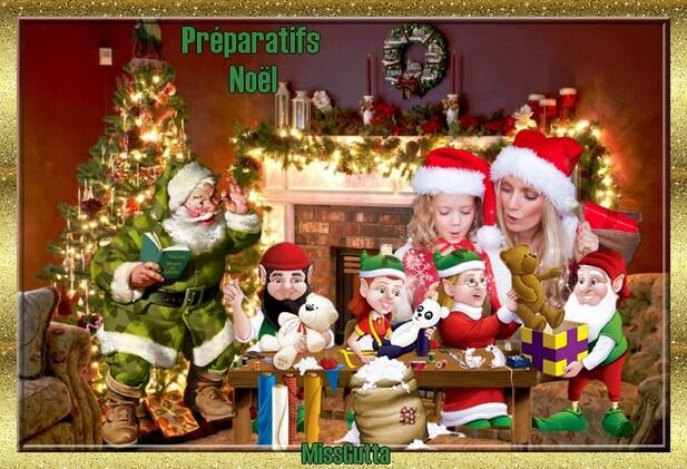 """Défi pour amie Fée Capucine """"Les préparations pour Noël """""""