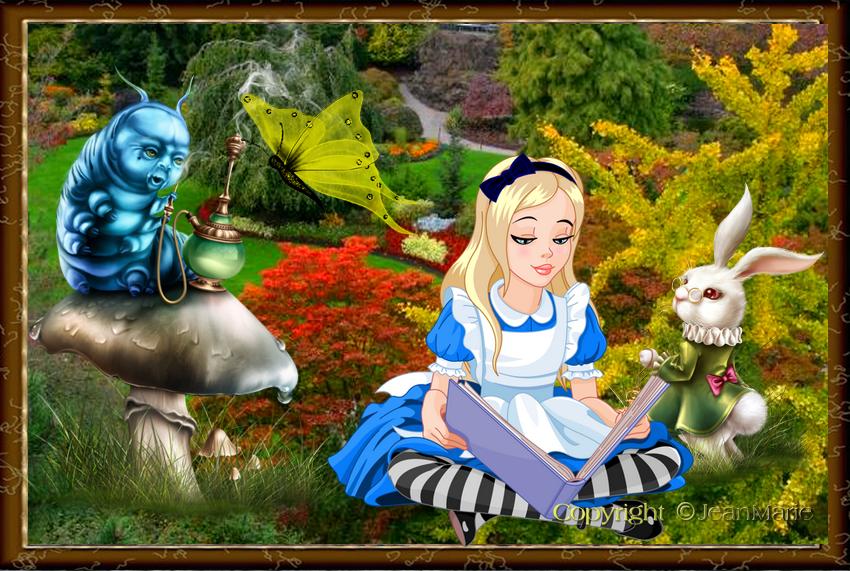 Alice au pays des Merveilles(Copyright numéro de dépôt c97634 )
