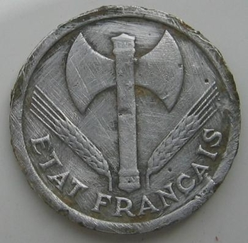 2 francs Bazor 1943 avers