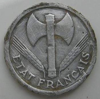 2 francs Bazor 1943 avers