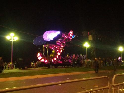 Le carnaval de Nice 2014 de nuit!
