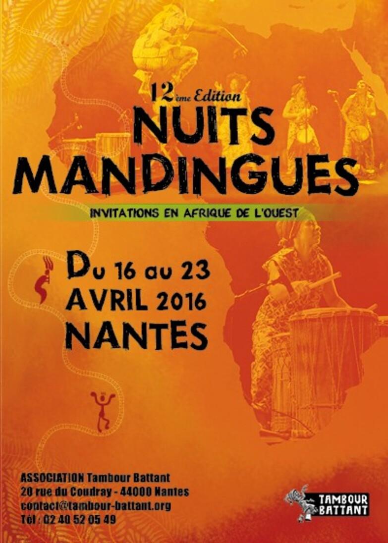 12eme édition des Nuits Mandingues du 16 au 23 avril 2016 à la Maison de Quartier de Doulon