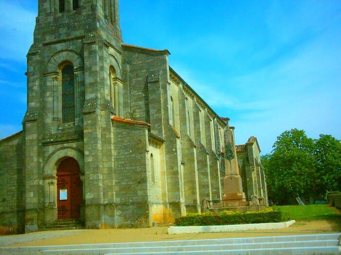 Le Pian-sur-Garonne (Gironde) L'èglise)