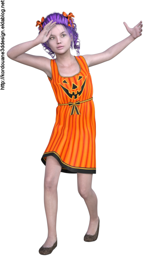 Tube fillette d'Halloween (image-render)