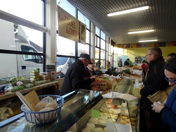 Au marché de Châtillon sur Seine, en décembre 2016...
