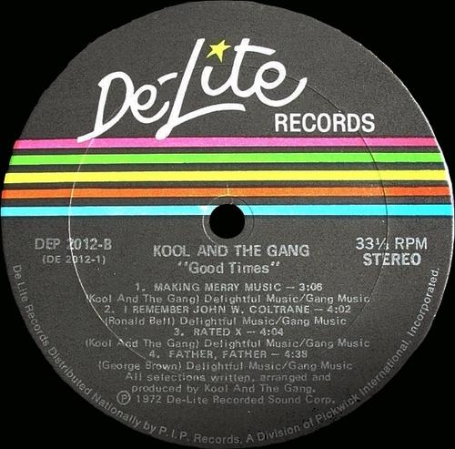 "Kool & The Gang : Album "" Good Times "" De-Lite Records DEP 2012 [ US ]"