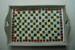 plateau en mosaïque