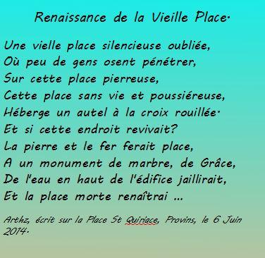 Renaissance de la Vieille Place - Poème