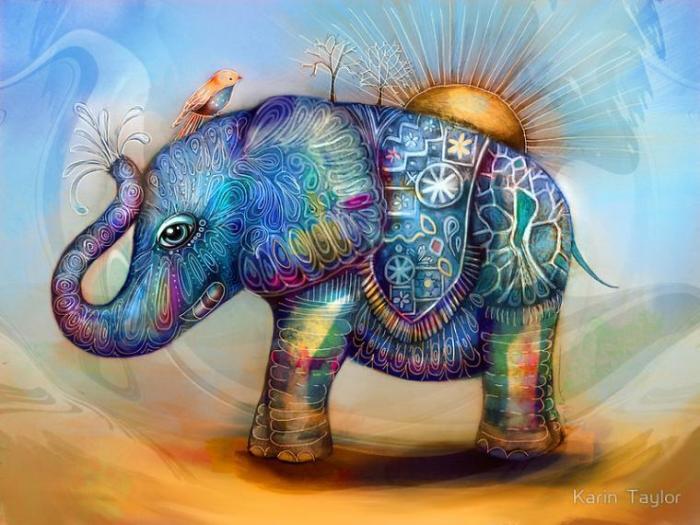 L'éléphant magique.  Auteur: Karin Taylor.