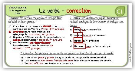 MAJ : correction ex de français CM2