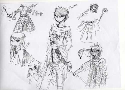 MAGI-premiers essais pour dessiner les personnage-