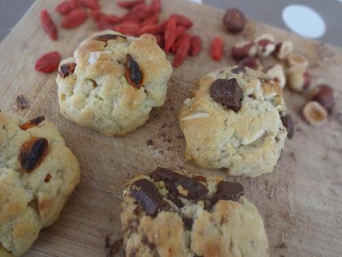 Duos de Cookies : Amande, Noisettes, Baies de Goji ou Chocolat