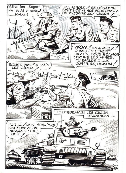 """Planches originales du Comic """"Bir Hakeim"""""""