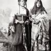 Ute bride and groom. Late 1800s. Denver, Colorado. Photo by Joseph Collier. Source - Denver Public L