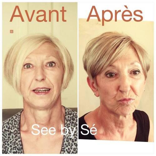 Relooking avant/après: Fernande