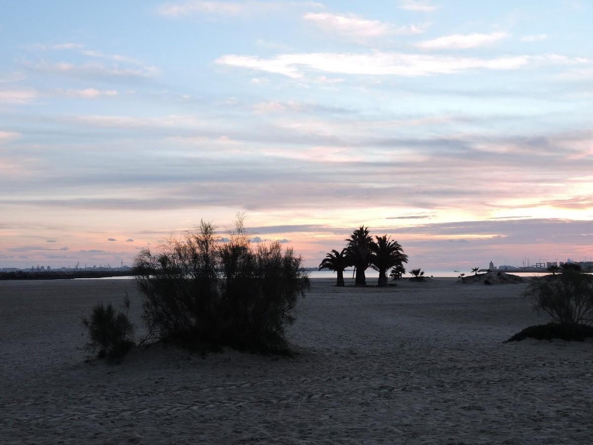 la plage devant le camping