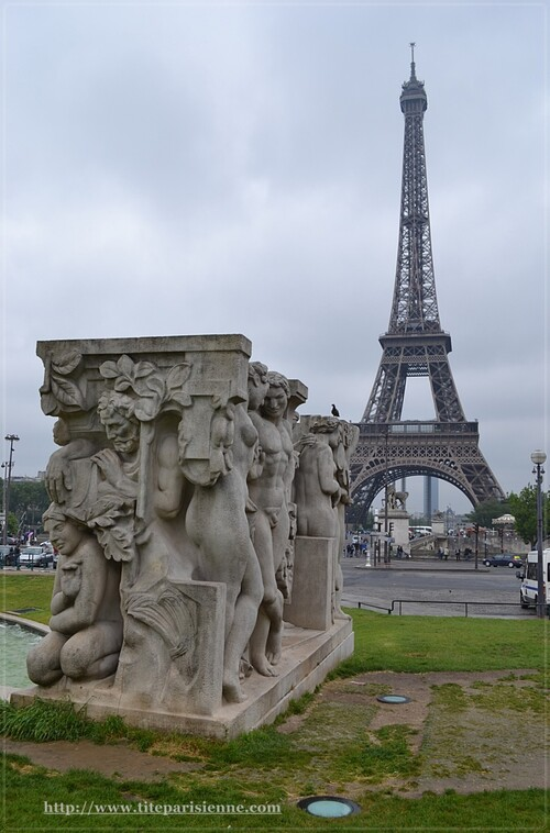 """Jardins du Trocadéro : """"La joie de vivre"""" de Léon Ernest Drivier"""