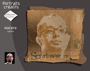 Portraits créatifs carton