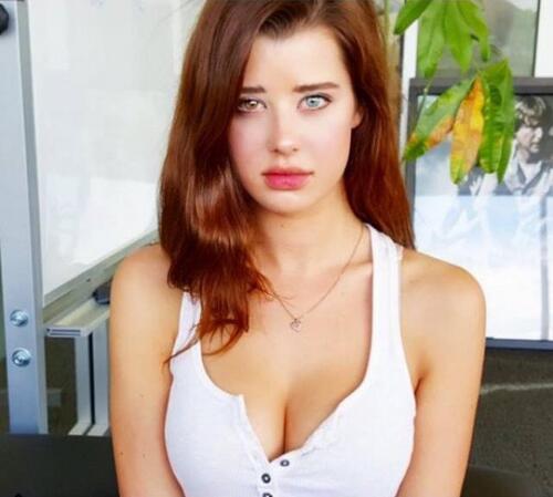 Les yeux vairons du modèle Sarah McDaniel