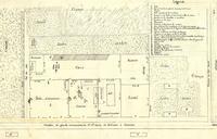 Plan manuscrit et annoté de la maison et des terres des époux Lenglemetz. (Agrandir l'image).