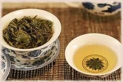 Le thé bleu-vert
