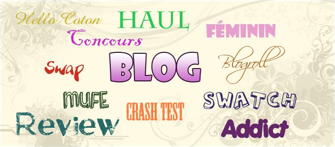 Vocabulaire des blogs Beauté et Autres Généralités