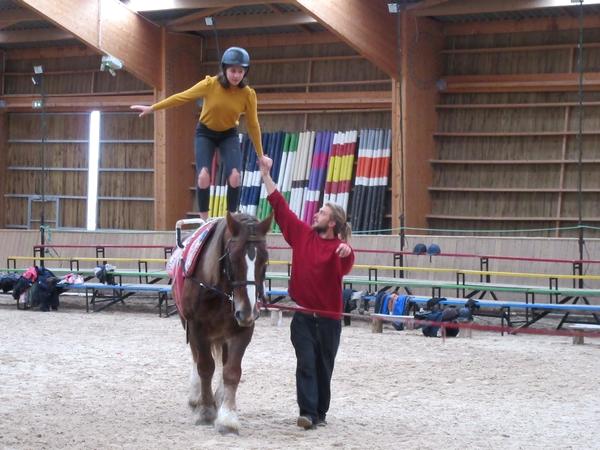 Le Lycée de La Barotte de Châtillon sur Seine a accueilli en résidence le cirque équestre des Zalzaros....
