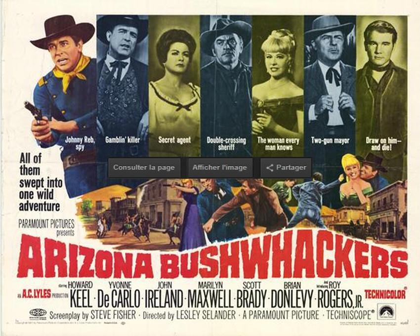 ARIZONA BUSHWHACKERS box office usa 1968