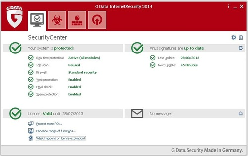 GData Internet Security 2014 - Licence 4 mois gratuits