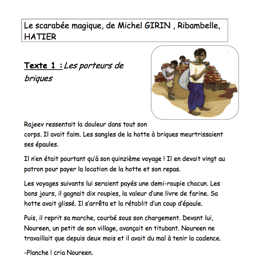 Bevorzugt Lecture CE1 - Le petit cartable de Sanleane PN97