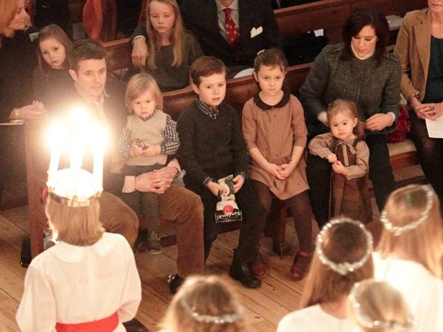 Frederik, Mary et leurs enfants
