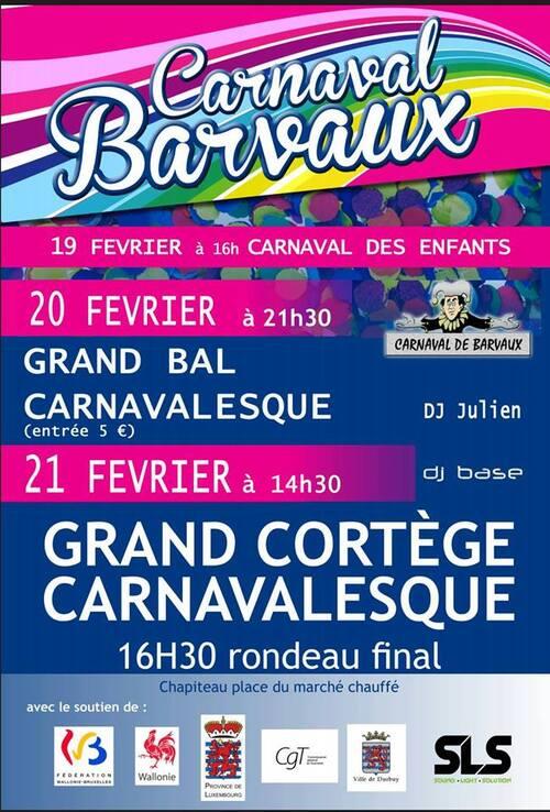 Carnavals en Belgique ce week-end ...