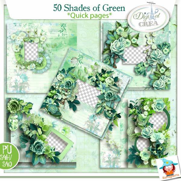 50 Shades of Green by Kastagnette