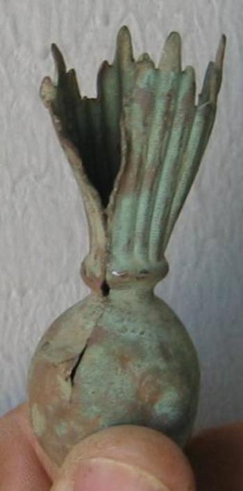 Tulipe pour shako d'officier modèle 1860