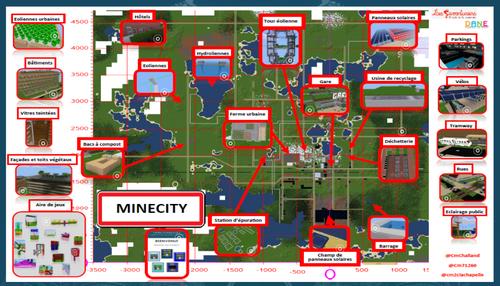 Notre projet de créer une ville sur Minetest