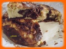gâteau au yaourt marbré choco-pommes