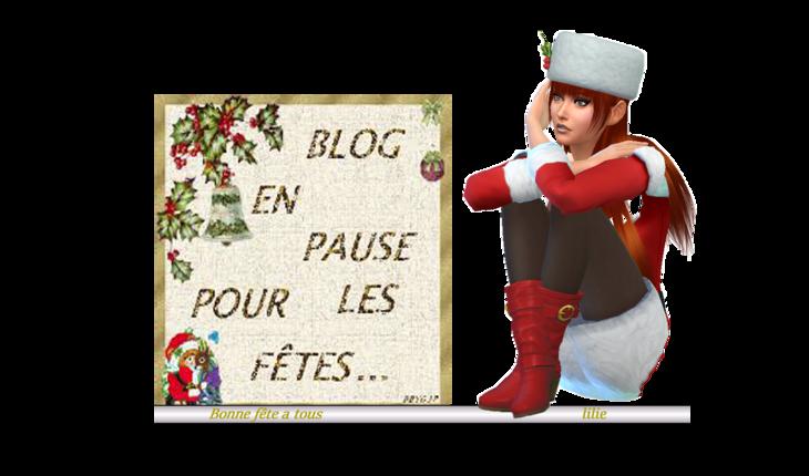 Blog en pause pour les fêtes.