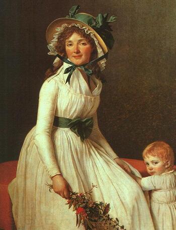 Jacques Louis David, Emilie de Sériziat (1795).