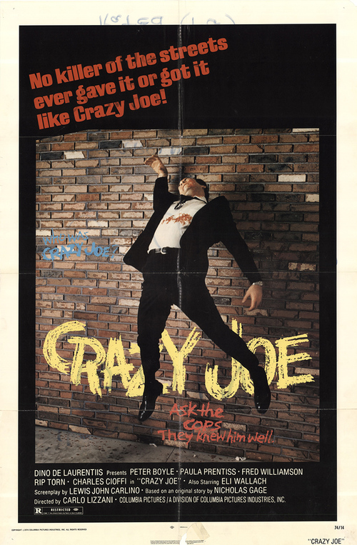CRAZY JOE BOX OFFICE USA 1974