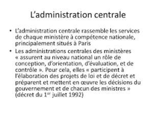 """Résultat de recherche d'images pour """"""""administration centrale"""" """"services déconcentrés"""""""""""