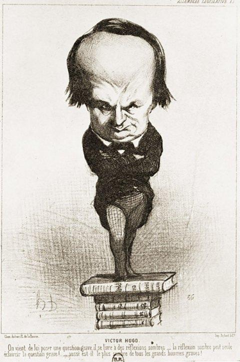 Caricature de Victor Hugo par Daumier, parue dans le Charivari du 20 juillet 1849