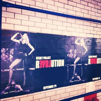 Secret Project Revolution Promo Poster in NYC
