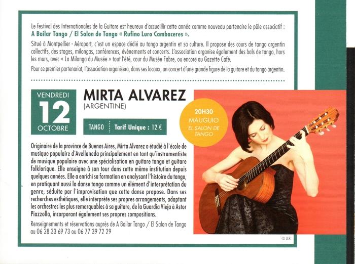 ★ Ce vendr 12, les IG avec Mirta ALVAREZ au Salon de Tango + DJ JEREMIE ★
