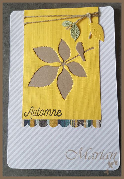 Echange de carte d'automne sur la guilde