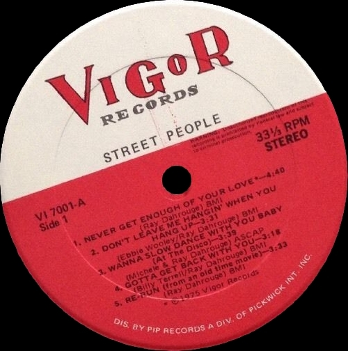 "Street People : Album "" Street People "" Vigor Records VI-7001 [ US ]"